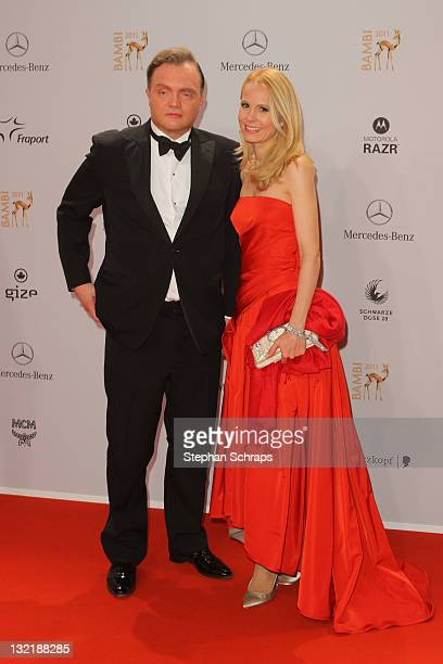 Alexander zu SchaumburgLippe and wife Nadja attend the Red Carpet for the Bambi Award 2011 ceremony at the RheinMainHallen on November 10 2011 in...
