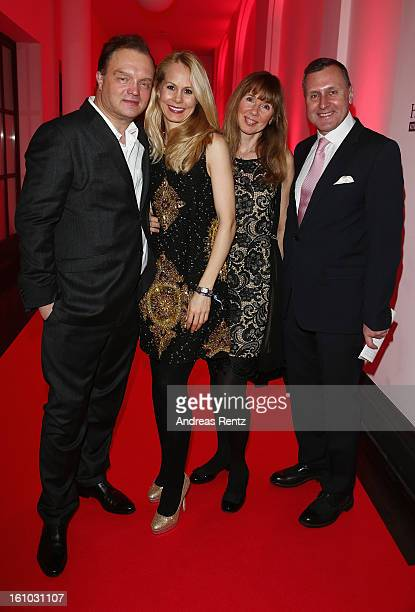 Alexander zu SchaumburgLippe with wife Nadja Anna zu SchaumburgLippe Maria S Koteneva and Vladimir Kotenev attend the Festival Night by Bunte and BMW...