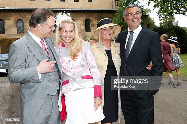 Alexander zu SchaumburgLippeNadja Anna zu SchaumburgLippe Sabine Christiansen and Norbert Medus attend the Church Wedding of Florian Langenscheidt...