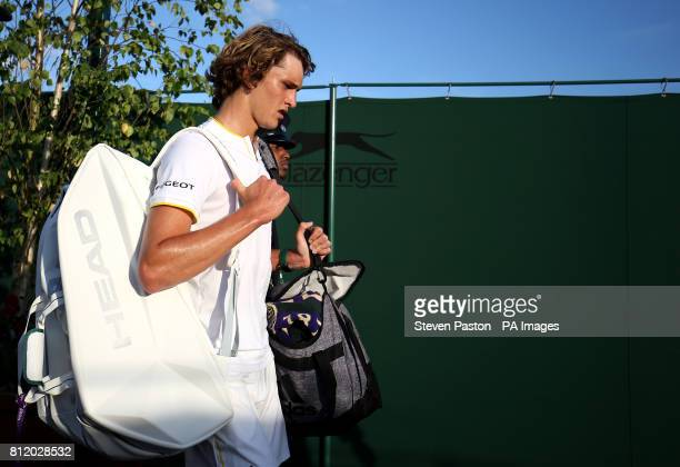Alexander Zverev after losing to Milos Raonic on day seven of the Wimbledon Championships at The All England Lawn Tennis and Croquet Club Wimbledon