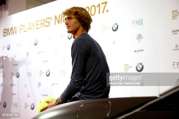 Alexander Zverev arrives at the Players Night of the 102 BMW Open by FWU at Iphitos tennis club on April 30 2017 in Munich Germany