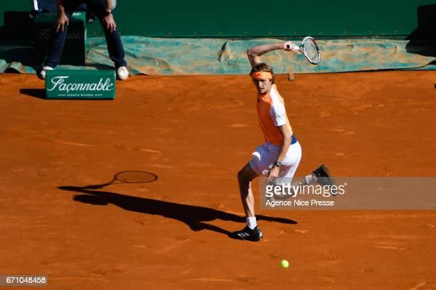 Alexander Zverev of Germany during the Monte Carlo Rolex Masters 2017 on April 20 2017 in Monaco Monaco