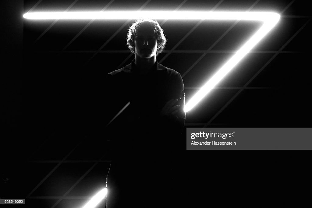 Alexander Zverev of Germany poses for a portrait at the ProAm Gala Dinner of the BMW Open at Iphitos tennis club on April 23 2016 in Munich Germany