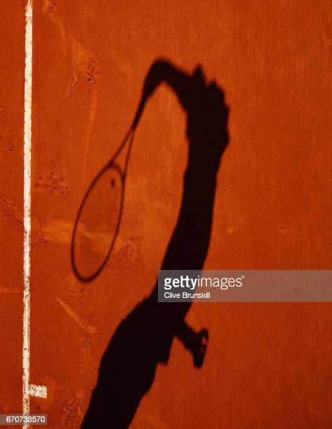 Alexander Zverev of Germany serves against Rafael Nadal of Spain in his third round match on day five of the Monte Carlo Rolex Masters at MonteCarlo...