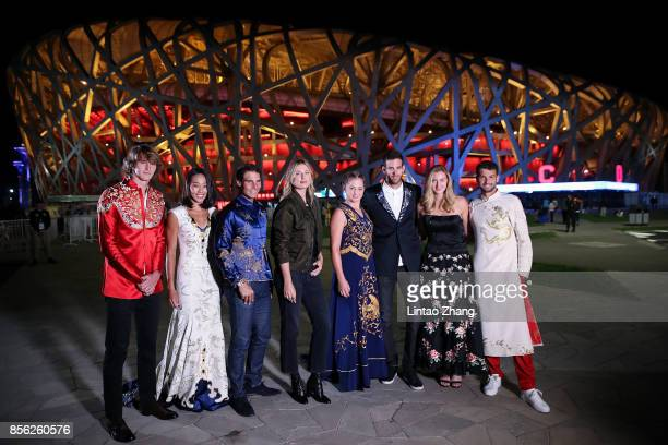 Alexander Zverev of Germany Zhang Shuai of China Rafael Nadal of Spain Maria Sharapova of Russia Jelena Ostapenko of Latvia Martin Del Potro of...