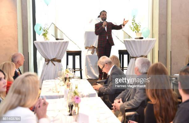 AlexanderKlaus Stecher attends the presentation of his wife Judith Williams new cosmetics line EGF Tech Science for DM during the 'Medien Lunch With...