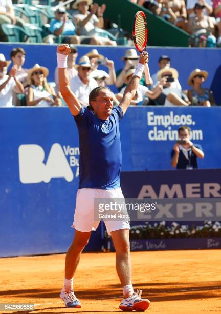 Alexandr Dolgopolov of Ukraine celebrates after wining the final match between Kei Nishikori of Japan and Alexandr Dolgopolov of Ukraine as part of...