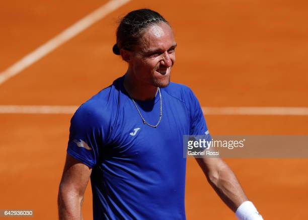 Alexandr Dolgopolov of Ukraine gestures during a final match between Kei Nishikori of Japan and Alexandr Dolgopolov of Ukraine as part of ATP...