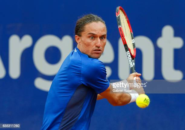 Alexandr Dolgopolov of Ukraine takes a backhand shot during a first round match between Alexandr Dolgopolov of Ukraine and Janko Tipsarevic of Serbia...