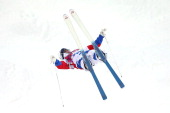 Alexandr Smyshlyaev of Russia competes in the Men's Moguls Qualification on day three of the Sochi 2014 Winter Olympics at Rosa Khutor Extreme Park...