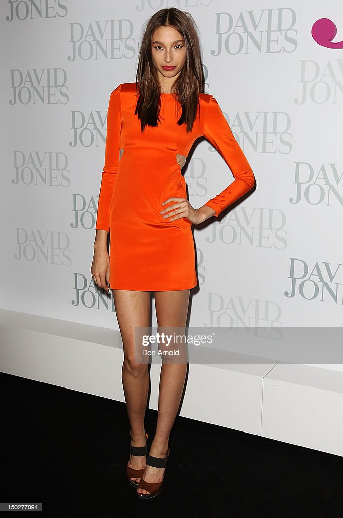 Alexandra Agostin attends the David Jones S/S 2012/13 Season Launch at David Jones Castlereagh Street, on August 14, 2012 in Sydney, Australia.