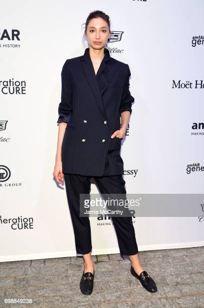 Alexandra Agostino attends the amfAR generationCURE Solstice 2017 at Mr Purple on June 20 2017 in New York City