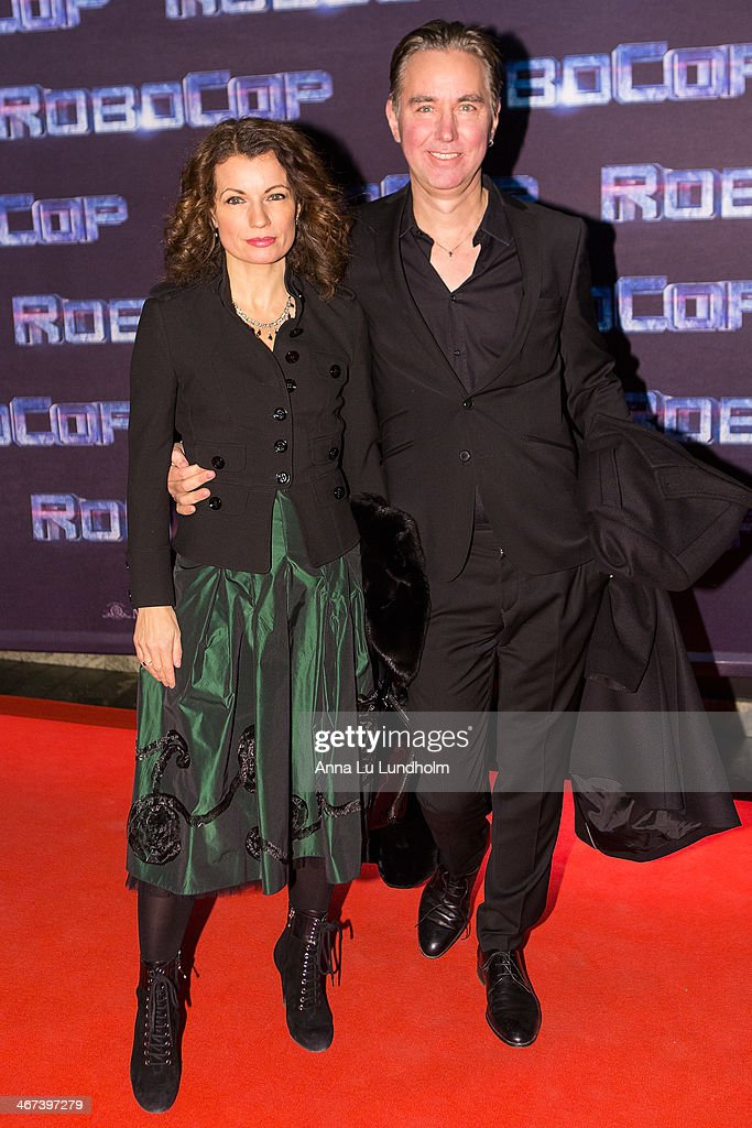 Alexandra Ahndoril and Alexander Ahndoril attends the Stockholm premiere of 'Robocop' at Rigoletto on February 6, 2014 in Stockholm, Sweden.