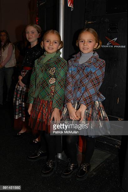 Alexandra and Theodora attend Child Magazine Fashion Show at The Atelier Tent at Bryant Park on February 7 2005 in New York City