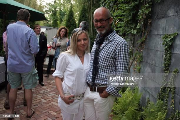 Alexandra and Tim O'Brien attend Gustavo Bonevardi Opening at Gallery B on May 30 2010 in Sag Harbor New York