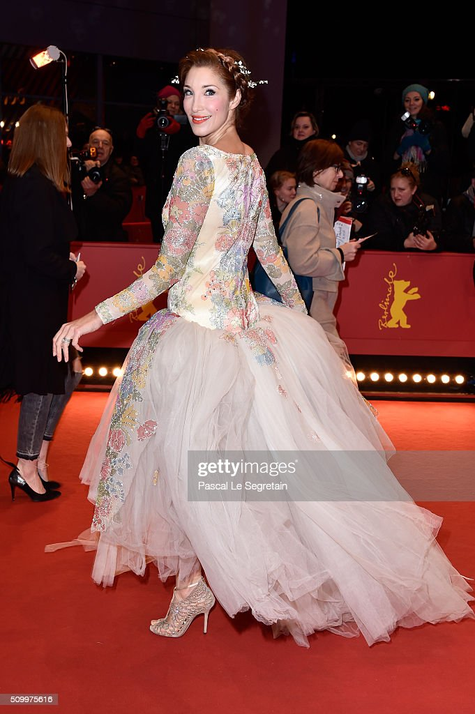 Alexandra Anthony attends the 'Things to Come' (L'avenir) premiere during the 66th Berlinale International Film Festival Berlin at Berlinale Palace on February 13, 2016 in Berlin, Germany.