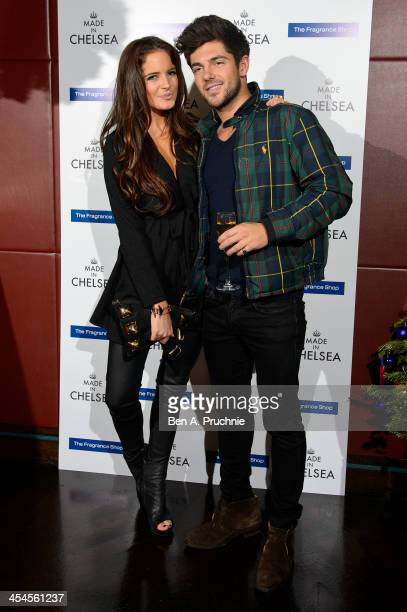 Alexandra 'Binky' Felstead and Alex Mytton attend the Made in Chelsea perfume launch at Raffles on December 9 2013 in London England