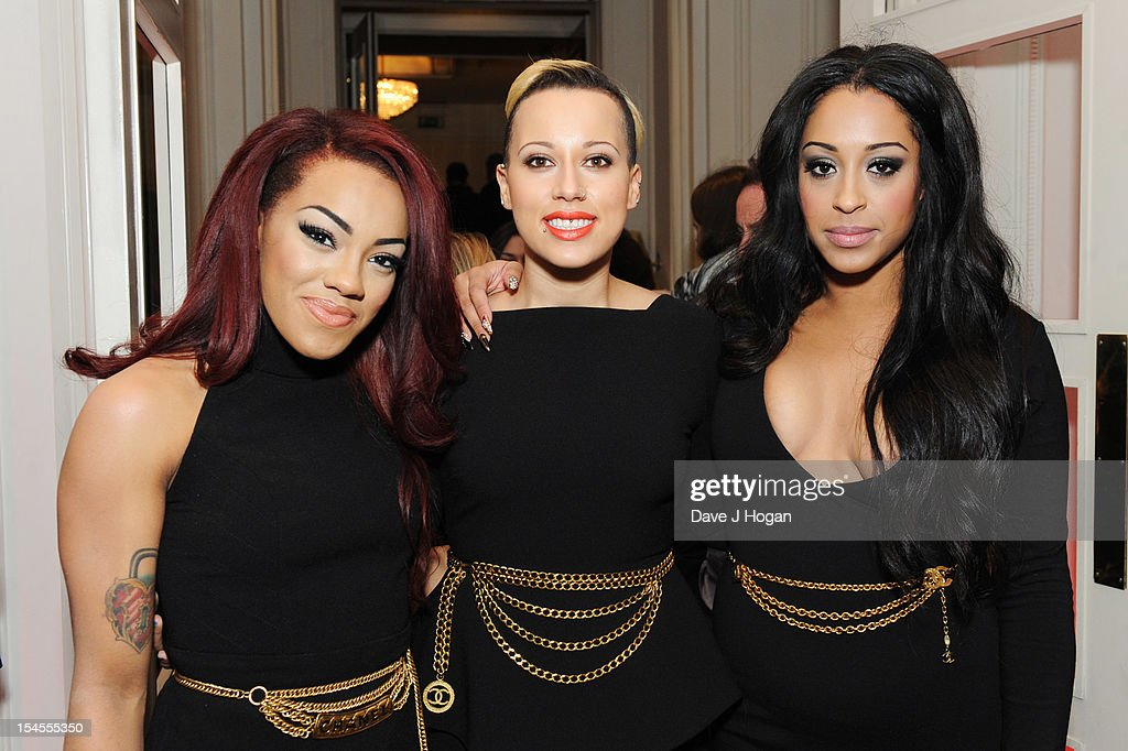 Alexandra Buggs, Karis Anderson and Courtney Rumbold of Stooshe attend the Q Awards 2012 at The Grosvenor House Hotel on October 22, 2012 in London, England.