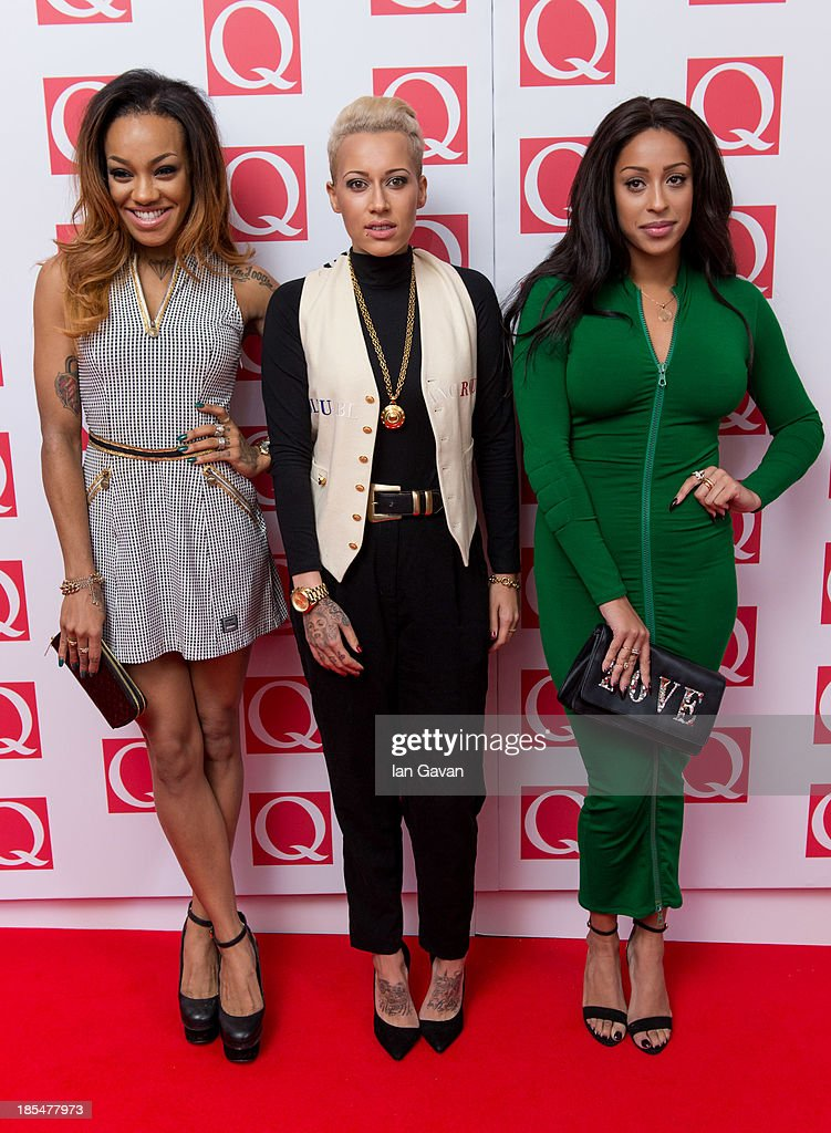 Alexandra Buggs, Karis Anderson, Courtney Rumbold of 'Stooshe' attend The Q Awards at The Grosvenor House Hotel on October 21, 2013 in London, England.