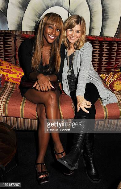 Alexandra Burke and Glynis Barber attend a private dinner hosted by Tom Ford to celebrate his runway show during London Collections MEN AW13 at...