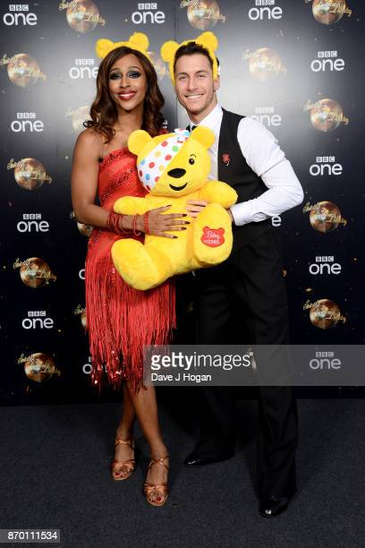 Alexandra Burke and Gorka Marquez attend the Strictly Come Dancing for BBC Children in Need photocall at Elstree Studios on November 4 2017 in...
