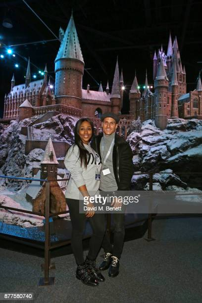 Alexandra Burke and Gorka Marquez attend the VIP launch of 'Hogwarts In The Snow' at Warner Bros Studio Tour London The Making Of Harry Potter on...