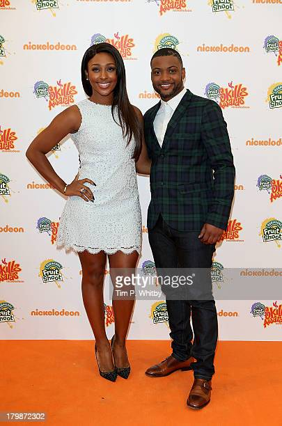 Alexandra Burke and JB Gill attend the Nickelodeon' Fruit Shoot Skills Awards 2013 at the IndigoO2 on September 7 2013 in London England