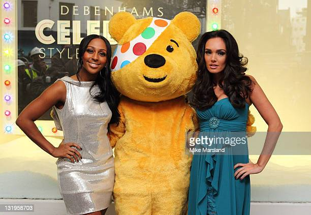 Alexandra Burke and Tamara Ecclestone helps celebrate the launch of their fashion collection for BBC Children in Need Celebrity Style Challenge at...