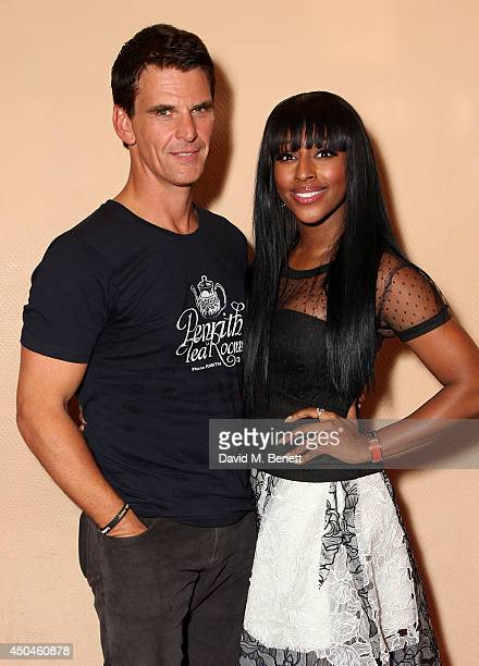 Alexandra Burke and Tristan Gemmil after her first performance of 'The Bodyguard' featuring new cast member Alexandra Burke at Adelphi Theatre on...