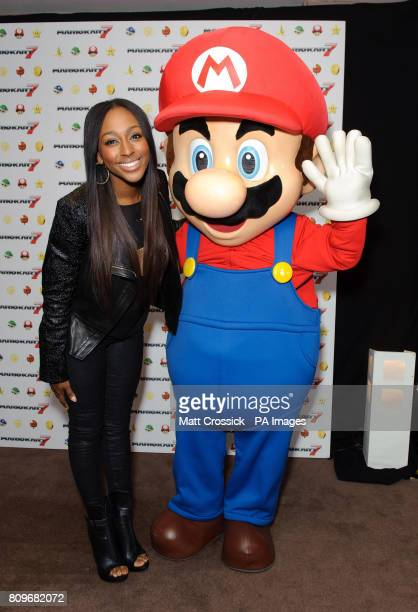 Alexandra Burke attending the launch of Mario Kart 7 the brand new 3D racing game released on Friday for the Nintendo 3DS at the Sports Cafe in...