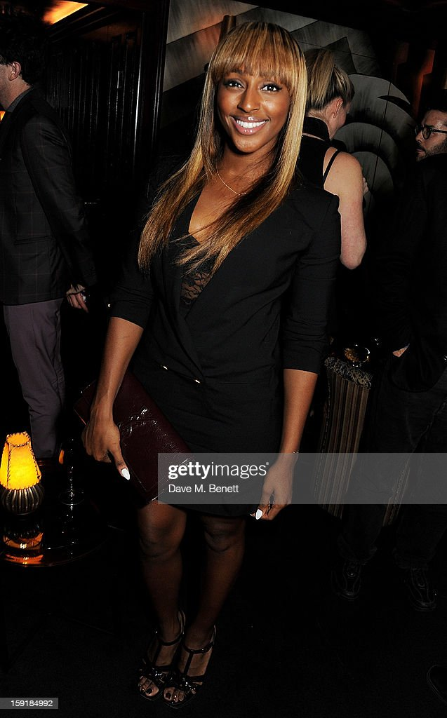 Alexandra Burke attends a private dinner hosted by Tom Ford to celebrate his runway show during London Collections: MEN AW13 at Loulou's on January 9, 2013 in London, England.