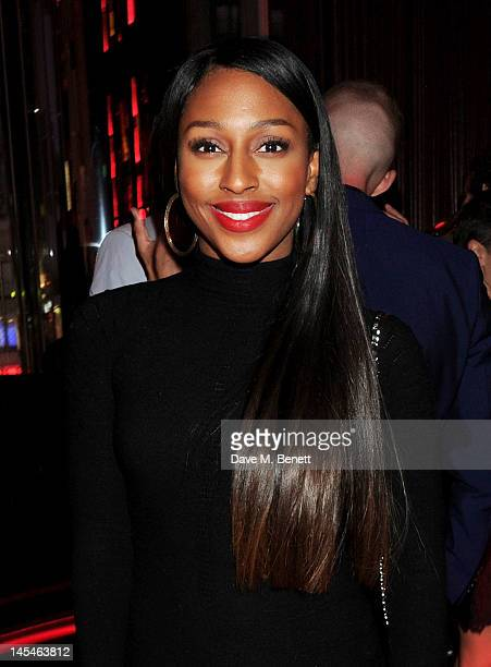 Alexandra Burke attends as W LondonLeicester Square hosts an after party following the World Premiere of 'iLL Manors' the debut film by Ben Drew aka...