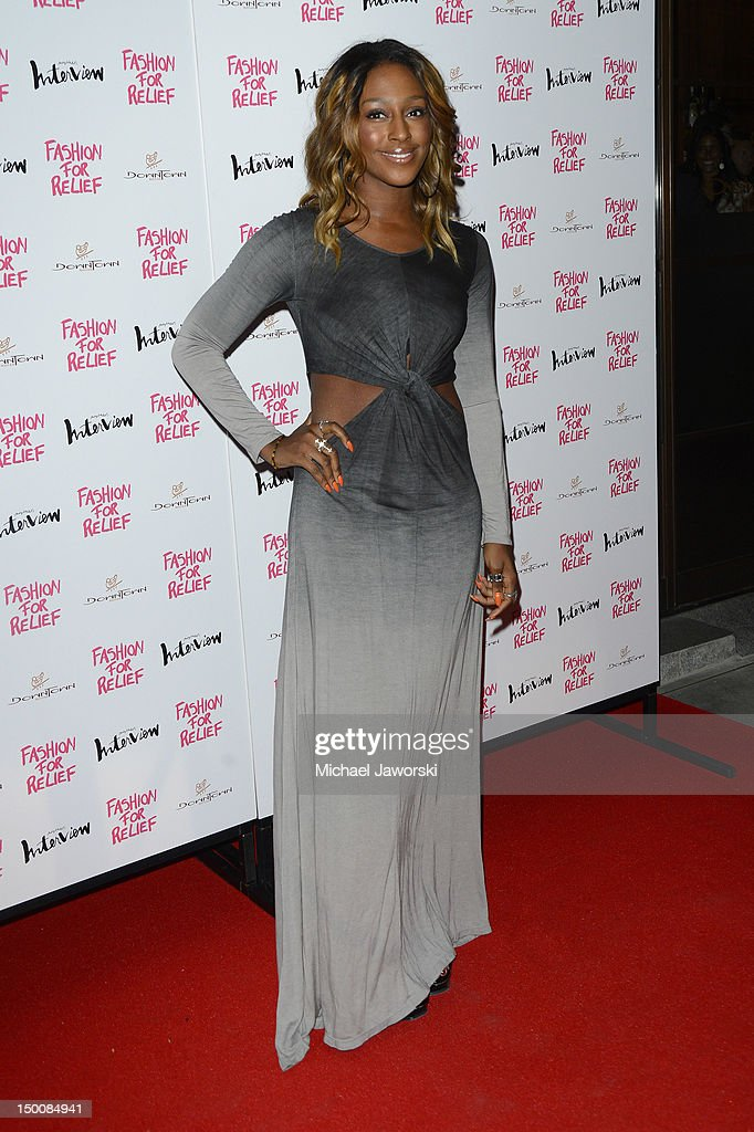 Alexandra Burke attends Fashion for Relief charity dinner on August 9, 2012 in London, England.