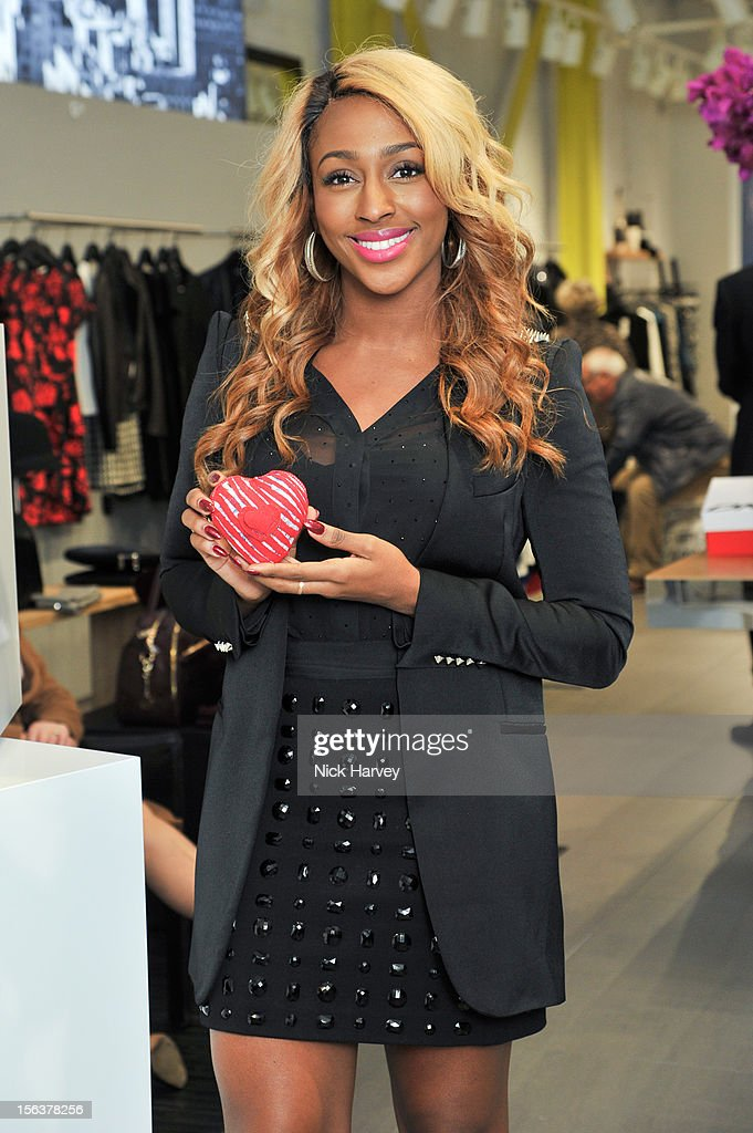 <a gi-track='captionPersonalityLinkClicked' href=/galleries/search?phrase=Alexandra+Burke&family=editorial&specificpeople=5592177 ng-click='$event.stopPropagation()'>Alexandra Burke</a> attends launch of Donna Karan's Heart for Haiti collection in support of The Urban Zen Artisan project at DKNY Store on November 14, 2012 in London, England.