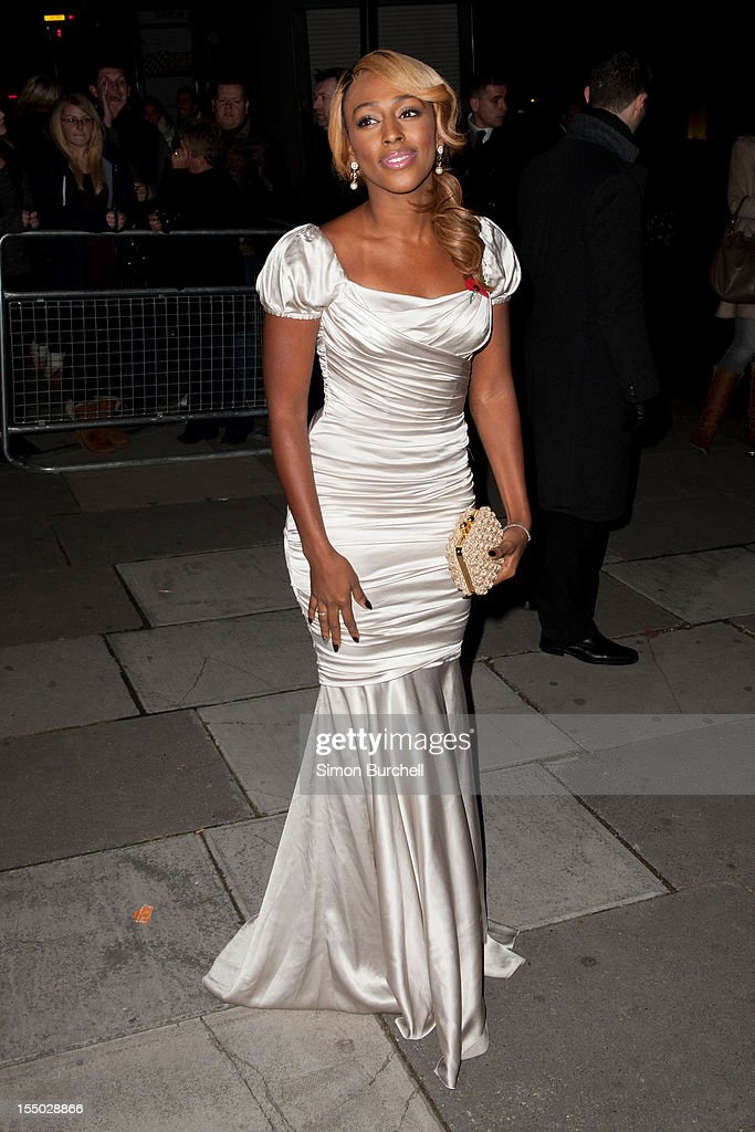Alexandra Burke attends the Cosmopolitan Ultimate Woman of the Year awards at Victoria & Albert Museum on October 30, 2012 in London, England.
