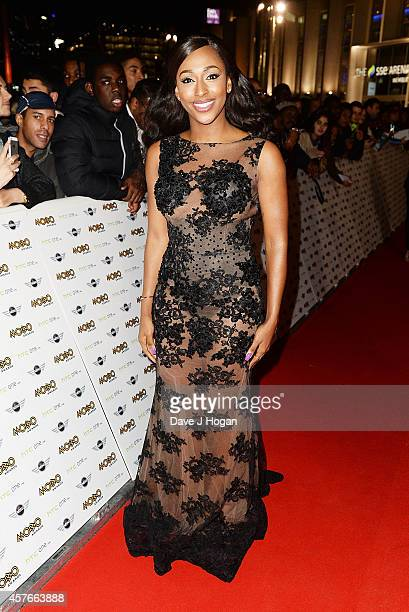 Alexandra Burke attends the MOBO Awards at SSE Arena on October 22 2014 in London England
