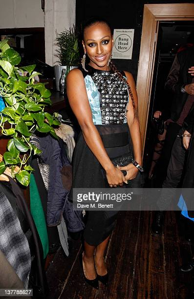 Alexandra Burke attends the Raymond Weil PreBrit Awards Dinner hosted by Labrinth at Mosaica The Chocolate Factory on January 26 2012 in London...