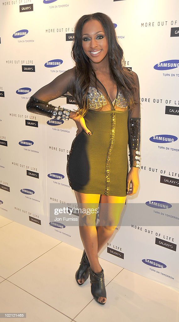 Alexandra Burke attends the Samsung Galaxy S launch on June 15, 2010 in London, England.
