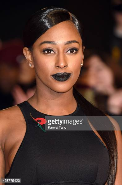 Alexandra Burke attends the World Premiere of 'The Hunger Games Mockingjay Part 1' at Odeon Leicester Square on November 10 2014 in London England
