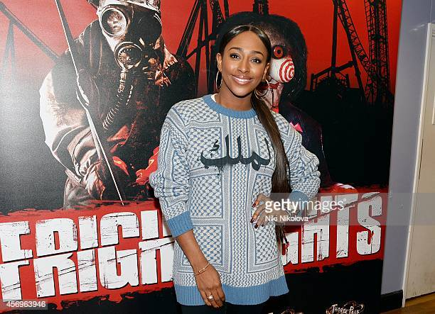 Alexandra Burke attens Friday Night VIP Event held in at Thorpe Park on October 9 2014 in Chertsey England