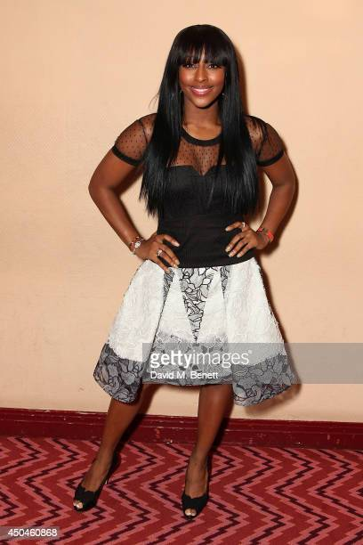 Alexandra Burke following a VIP performance of 'The Bodyguard' featuring new cast member Alexandra Burke at Adelphi Theatre on June 11 2014 in London...