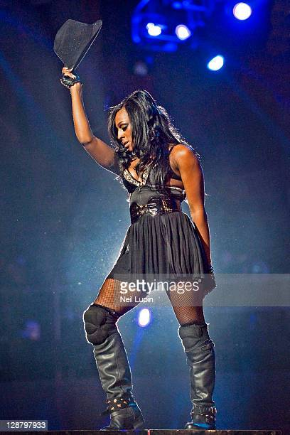 Alexandra Burke performs on stage during the Michael Forever Tribute at Millenium Stadium on October 8 2011 in Cardiff United Kingdom