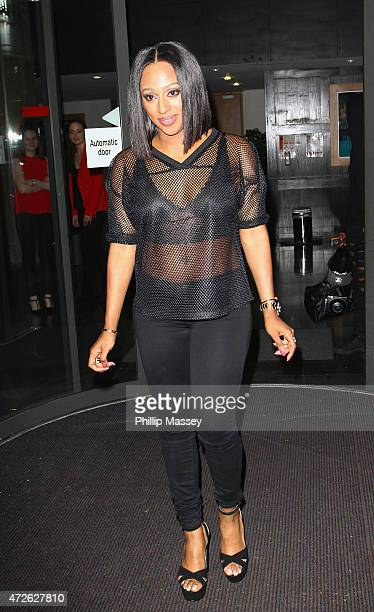Alexandra Burke seen at the 'Late Late Show' on May 8 2015 in Dublin Ireland