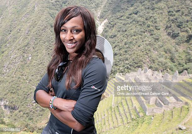 Alexandra Burke walks the Inca Trail to Machu Picchu on day four of Denise and Fearne's Charity Trek for Breast Cancer Care on September 30 2010 in...