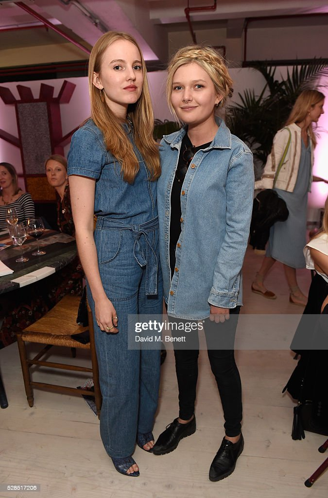 Alexandra Carl and Sophie Kennedy Clark attend a private dinner hosted by M.i.h Jeans to celebrate their 10th anniversary at Brewer Street Car Park on May 5, 2016 in London, England.