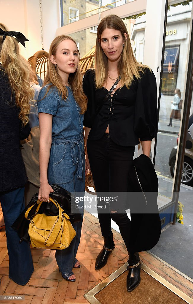 Alexandra Carl and Veronika Heilbrunner attend Mih Jeans' 10th Anniversary Celebration at their popup concept store on Upper James Street on May 5...
