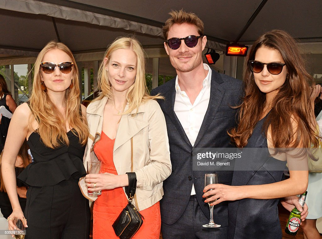 Alexandra Carl, Annabelle Horsey, <a gi-track='captionPersonalityLinkClicked' href=/galleries/search?phrase=Max+Brown+-+Actor&family=editorial&specificpeople=13500555 ng-click='$event.stopPropagation()'>Max Brown</a> and <a gi-track='captionPersonalityLinkClicked' href=/galleries/search?phrase=Sarah+Ann+Macklin&family=editorial&specificpeople=8845247 ng-click='$event.stopPropagation()'>Sarah Ann Macklin</a> attend day two of the Audi Polo Challenge at Coworth Park on May 29, 2016 in London, England.