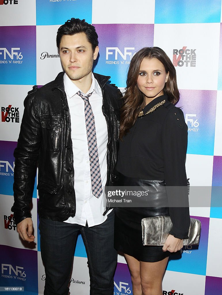 Alexandra Chando (R) and guest arrive at the 16th Annual 'Friends And Family' pre-GRAMMY event held at Paramount Studios on February 8, 2013 in Hollywood, California.