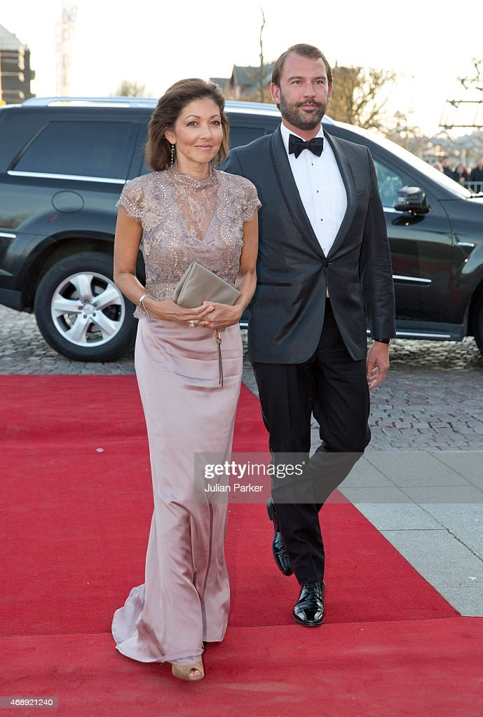 Alexandra, Countess of Frederiksborg, and husband Martin Jorgensen attend a Gala Night to mark the forthcoming 75th Birthday of Queen Margrethe II of Denmark at Aarhus Concert Hall on April 8, 2015 in Aarhus, Denmark.