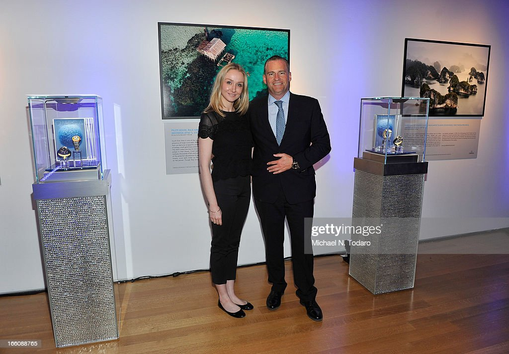<a gi-track='captionPersonalityLinkClicked' href=/galleries/search?phrase=Alexandra+Cousteau&family=editorial&specificpeople=2977470 ng-click='$event.stopPropagation()'>Alexandra Cousteau</a> and Gregory Swift President of Omega attend Omega At The Oceana Ball at Christie's on April 8, 2013 in New York City.